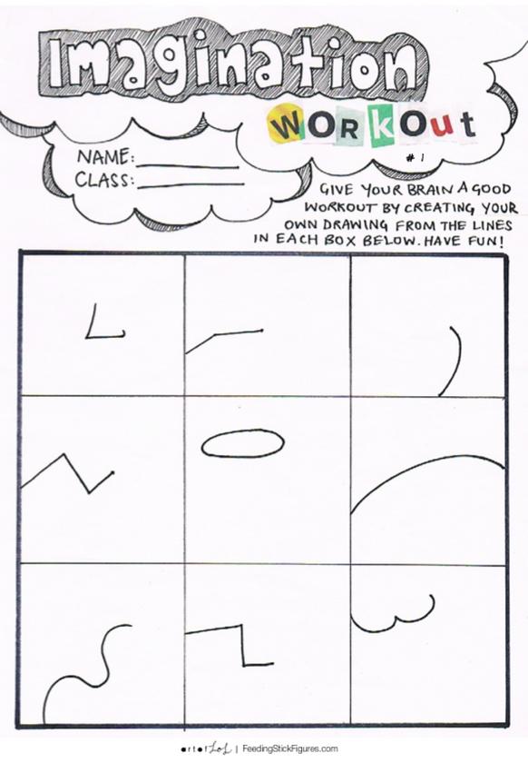 Imagination Workout Activity Sheet for Children