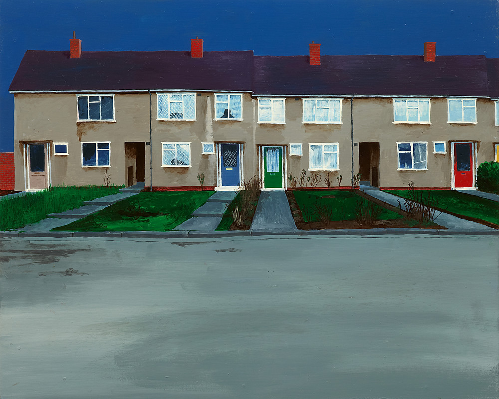 George Shaw, No 57 - Exhibition Review Adrian Coleman - Dark Yellow Dot