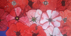 Remembrance Day : Red Poppy Art Project