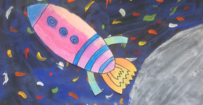 Peter Thorpe Inspired Space Art Project