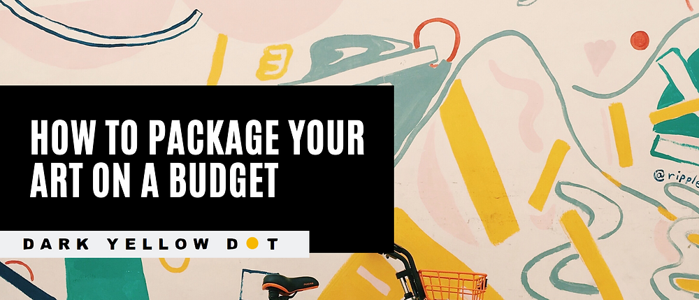 how to package artwork for beginners - dark yellow dot