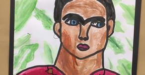 Frida Kahlo Portrait Art Lesson for Kids