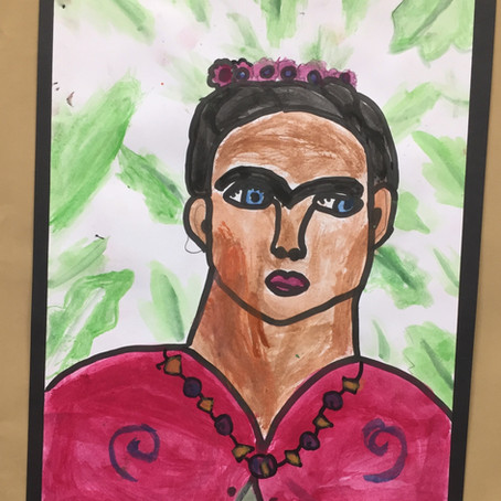 Frida Kahlo Portrait Art Lesson for Kids