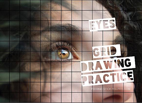 Eyes - Grid Drawing Practice