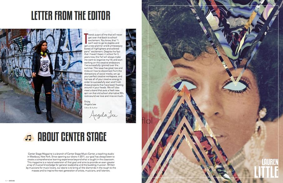 Lauren Little Artwork feature in Center Stage Magazine issuu