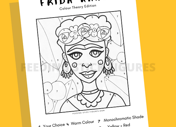 Frida Kahlo Colouring Sheet