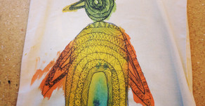 Zentangle Fabric Painting