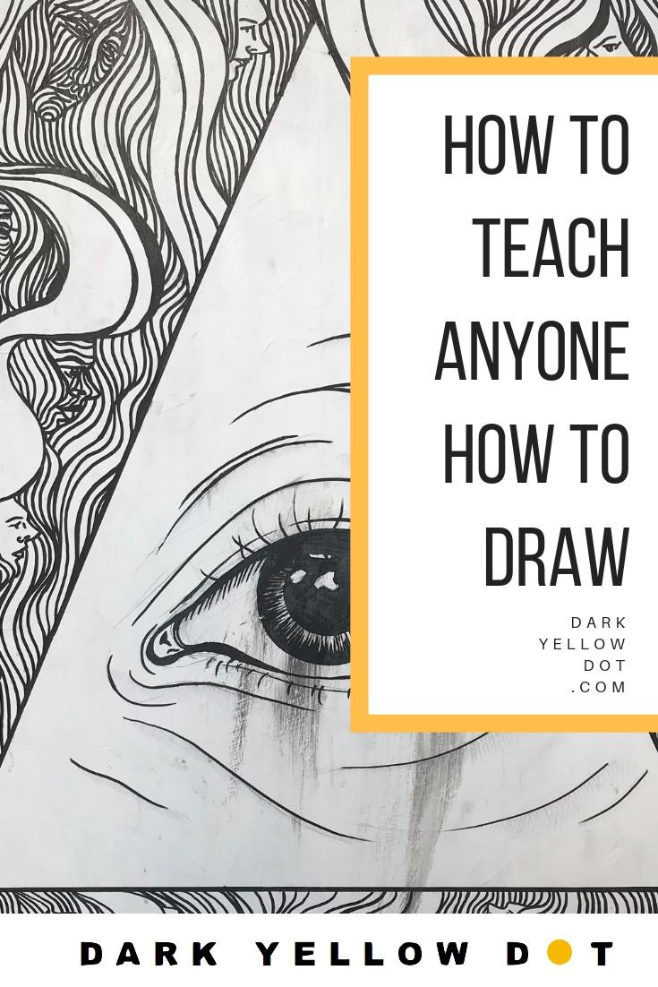 darkyellowdot, how to draw, how to teach art