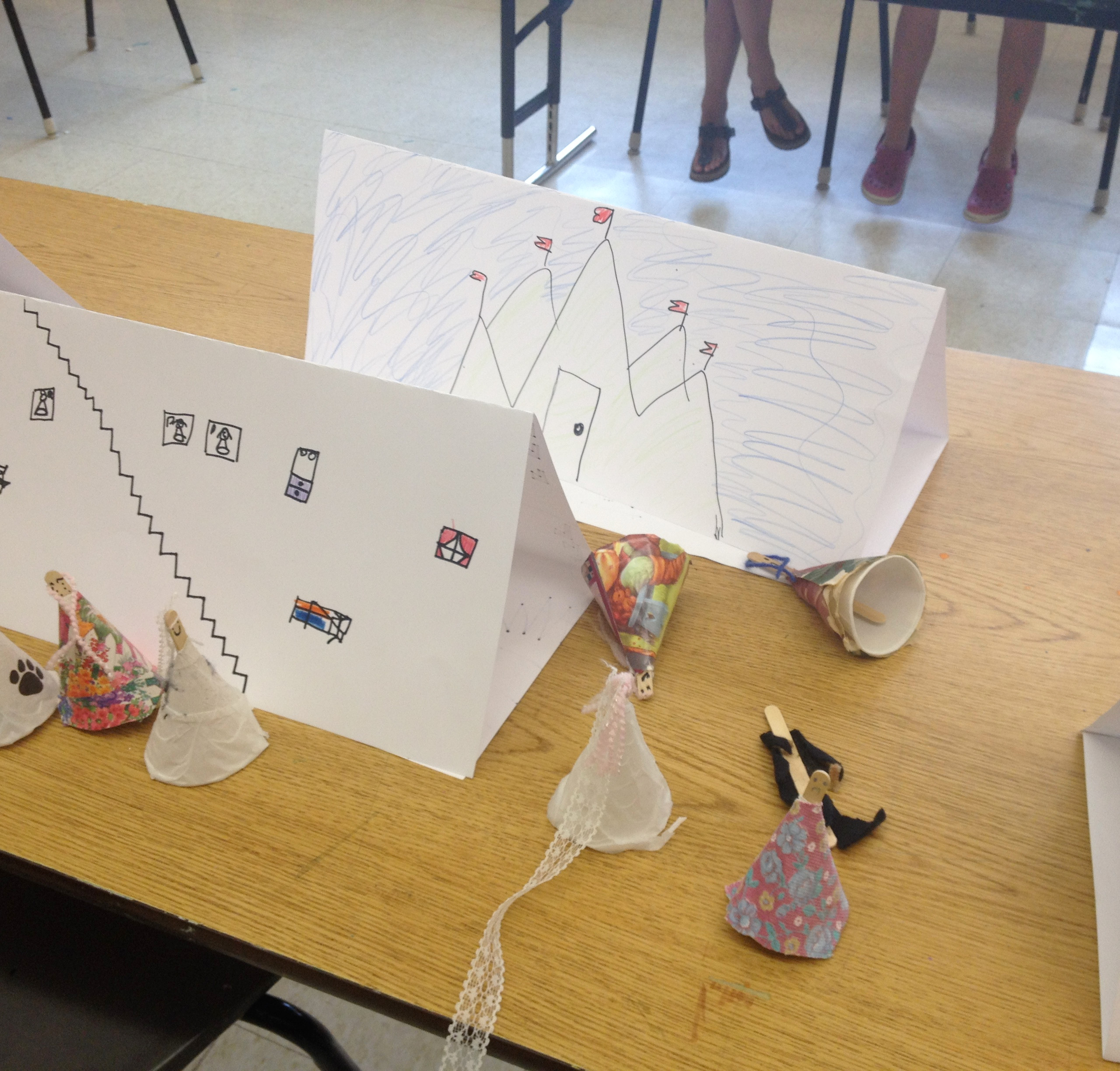 Paper Puppet Theatre Crafts FeedingStickFigures