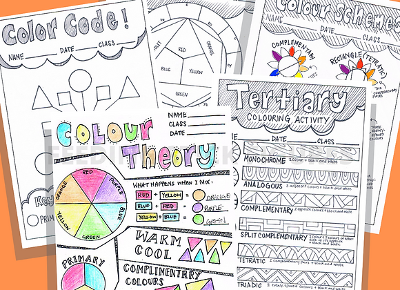 Colour Theory Learning Sheets Bundle