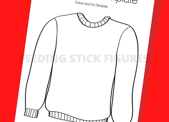 Ugly Christmas Sweater Template