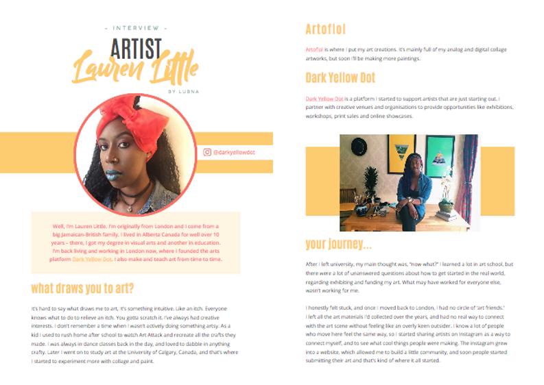 Lauren Little Artist Inteview with Unread Magazine