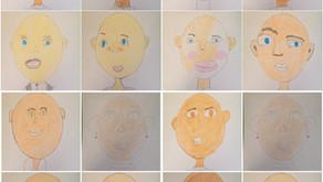 Mixed Media Self-Portraits: Part 1