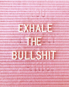 exhale the bullshit, quotes for artists, dark yellow dot