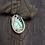 Thumbnail: DOUBLE-CHAIN BLUE ABALONE NECKLACE, REVERSIBLE PENDANT