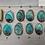 Thumbnail: BLUE ABALONE SHELL NECKLACE, REVERSIBLE PENDANT