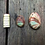 Thumbnail: DOUBLE-TIERED ABALONE SHELL NECKLACE, REVERSIBLE PENDANT – EARTHY COLORS