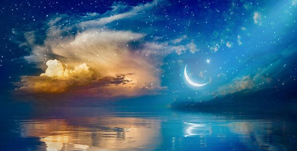 Ramadan Kareem background with crescent,