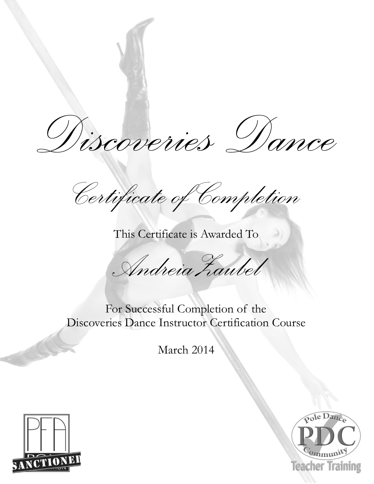 Discoveries pole dance instructor certification andreia zaubel xflitez Choice Image