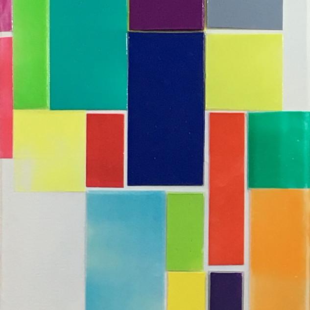 "42""h x 8""w, acrylic on canvas"