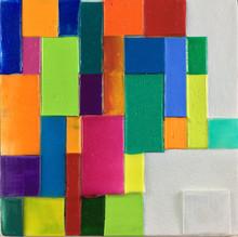 "6""h x 6""w, acrylic on canvas"