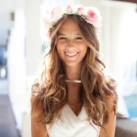 Happy Beautiful Bride Laughing