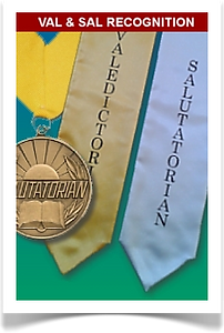 Valedictorian and Salutatorian stoles and medallions from Senior Class Graduation Products