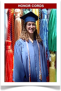 Graduation honor cords from Senior Class Graduation Products