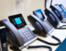 IP phones for office on the store shelve