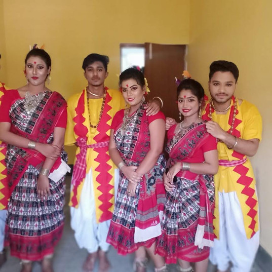 Students_ participated in a dance compet