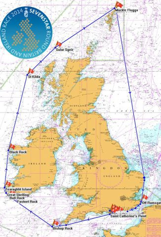 RORC Sevenstar Round Britain and Ireland Race map