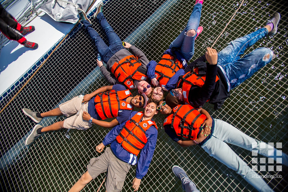 The Treasure Island Sailing School kids