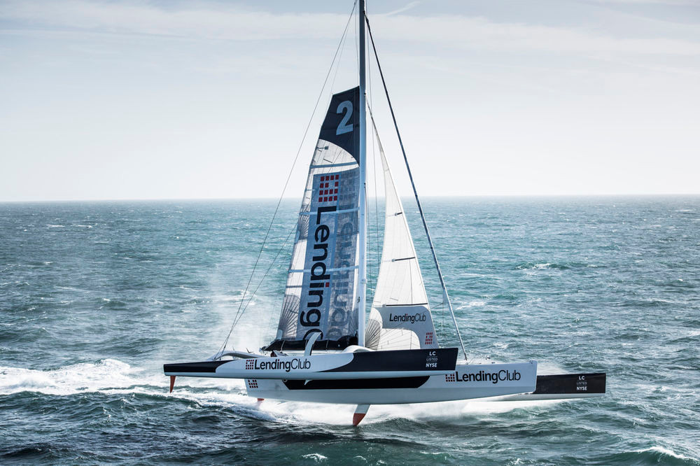 Lending Club CEO Renauld Laplanche, co-skipper Ryan Breymaier and an international crew chartered the 105-foot trimaran to take a crack at sailing's record book.