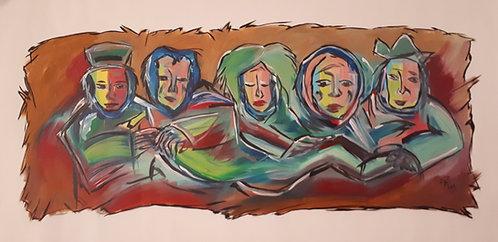 Gypsies 27x46 acrylics on canvas 2K5 (2005)