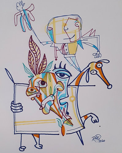 drawing#1 11x14 markers on paper 2021