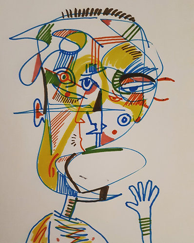 drawing#3 11x14 markers on paper 2021