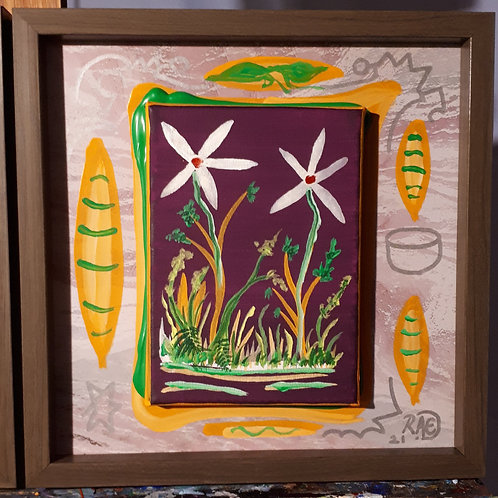 Spring bloom 10x10 framed 2021