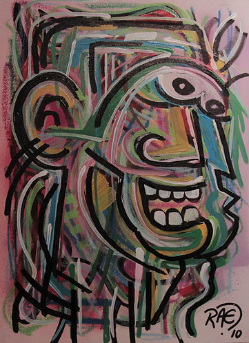 """""""Ape Man"""" 12"""" x 16"""" acrylics on canvas - 2010"""