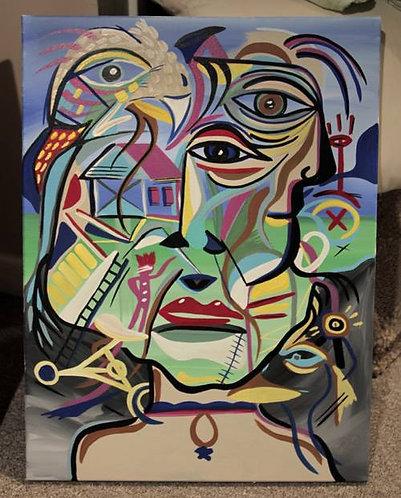 """""""Life"""" 18""""x24"""" acrylics on canvas - 2016"""