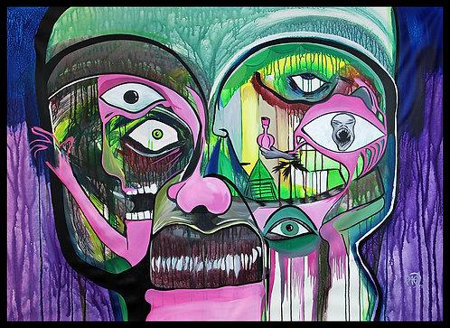 """Zombie"" 38""x60"" acrylics on canvas - 2016"