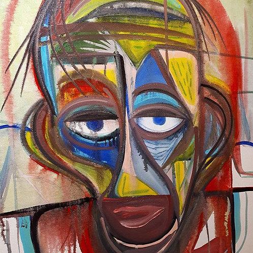 """tired days"" 16""x20"" acrylics on canvas - 2017"