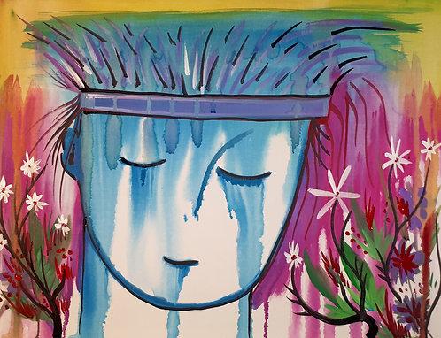 Grace 18x24 acrylics on canvas 2020