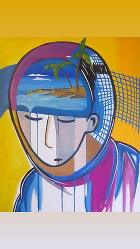 """Island dreamer 18""""x24"""" by raeart 2020"""