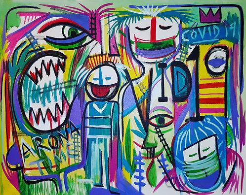 COVID19 16x20 acrylics on canvas 2020