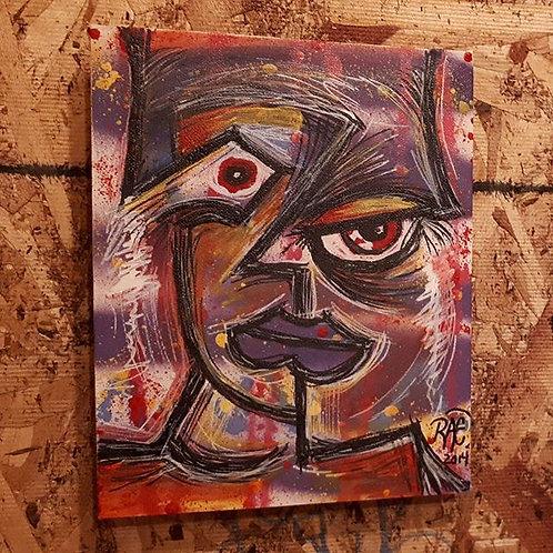 """""""face"""" 8""""x10"""" acrylics on canvas - 2014"""