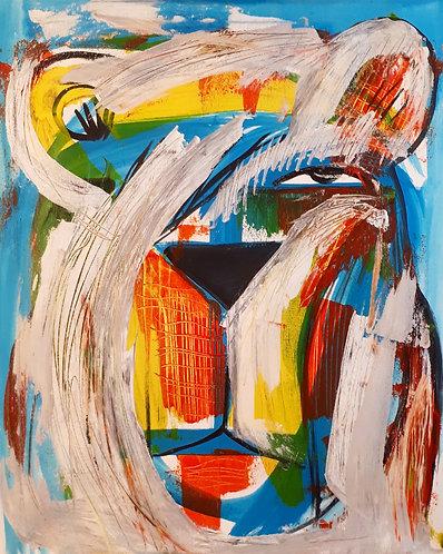 Dirty Bear 16x20 acrylics on canvas - 2020
