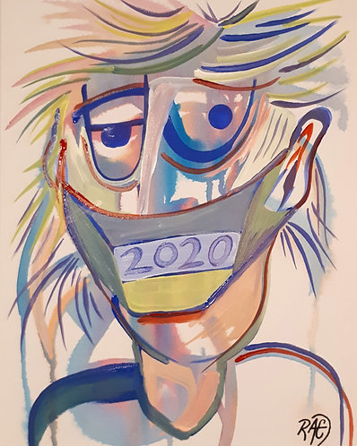 What a year 2020 12x16 acrylics on canvas 2020