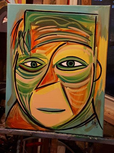 """Joe Cool"" 16""x20"" acrylics on canvas - 2018"