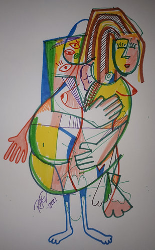 drawing#5 11x14 markers on paper 2021