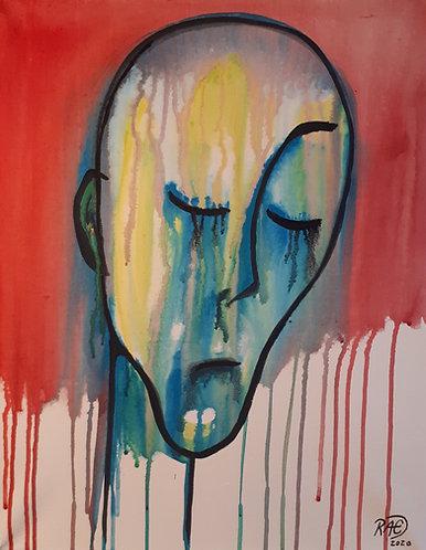 """""""Corona Lisa"""" 16x20 acrylics on canvas"""